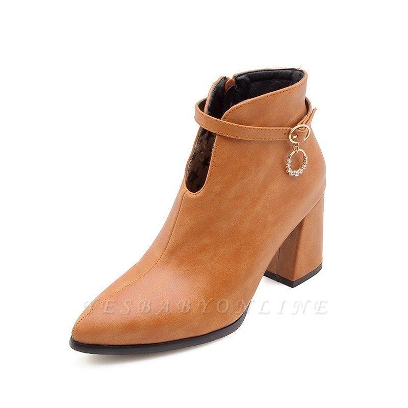 Daily PU Chunky Heel Boots On Sale