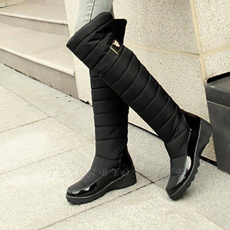 Chunky Heel Daily Round Boots On Sale