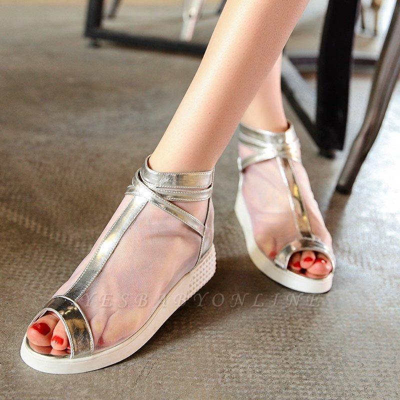 Zipper Daily Peep Toe Wedge Heel Elegant Boots On Sale