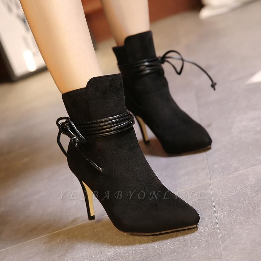 Women's Boots Ankle Boots Stiletto Heel Suede Shoes On Sale