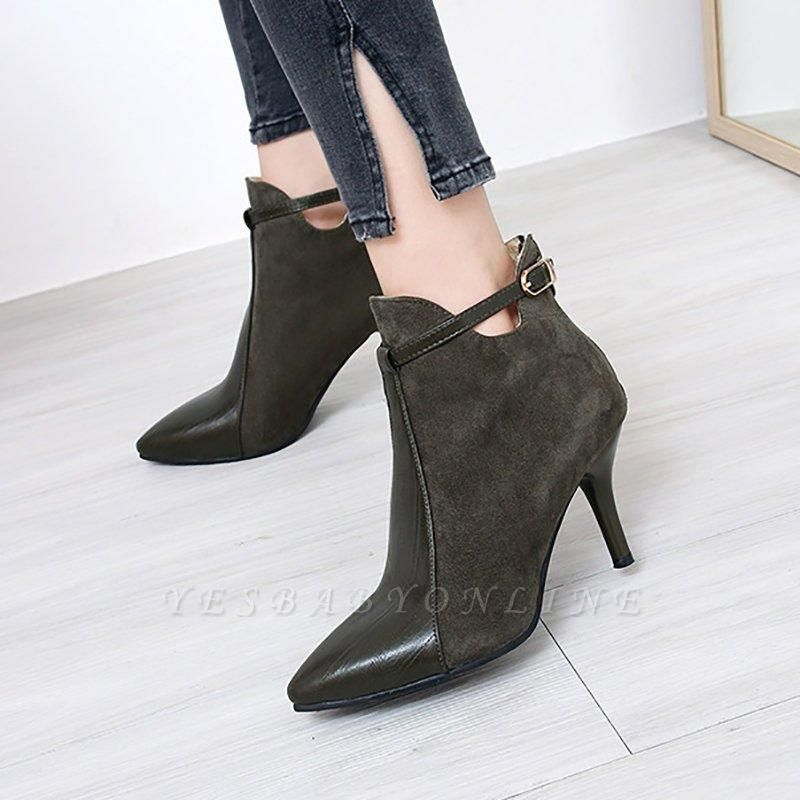 Buckle Stiletto Heel Daily Elegant Boots On Sale