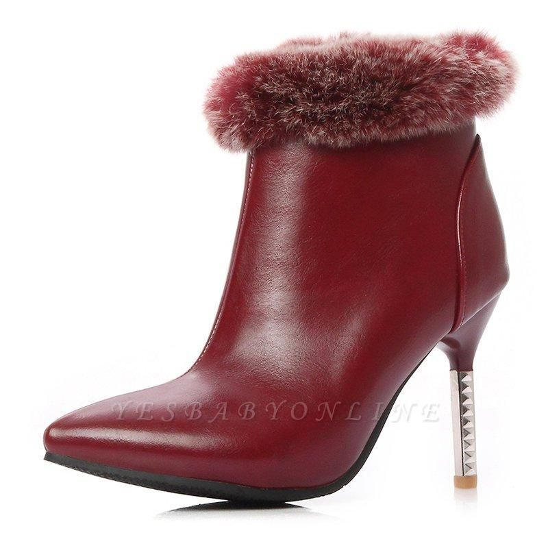 Stiletto Heel Daily Pointed Toe Suede Boots On Sale