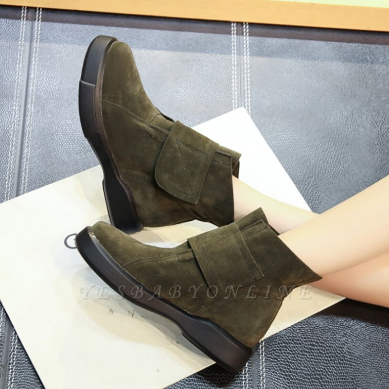 Flat Heel Round Toe Casual Middle Boots On Sale