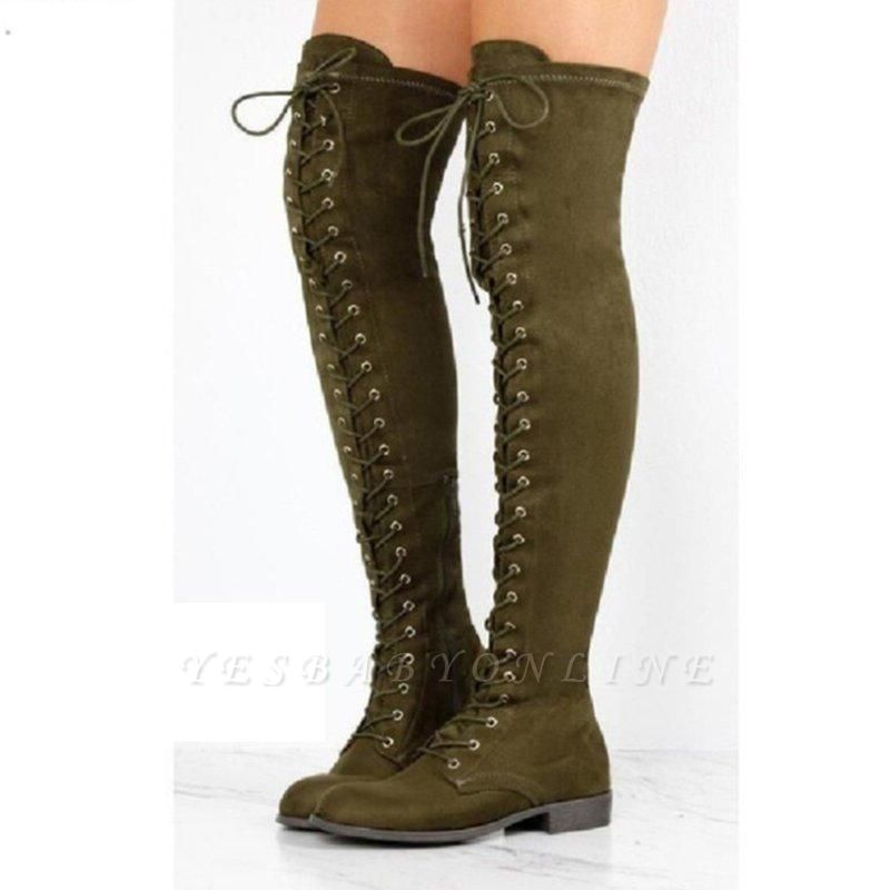 Lace-up Daily Chunky Heel Round Toe Boots On Sale