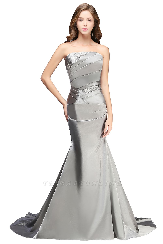 CELESTE | A-line Strapless Satin Party Dress