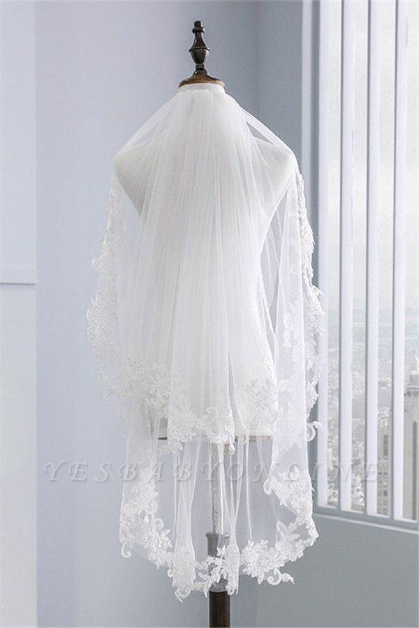 Fashion Tulle Lace Lace Applique Edge 1.7*1.5M Wedding Gloves