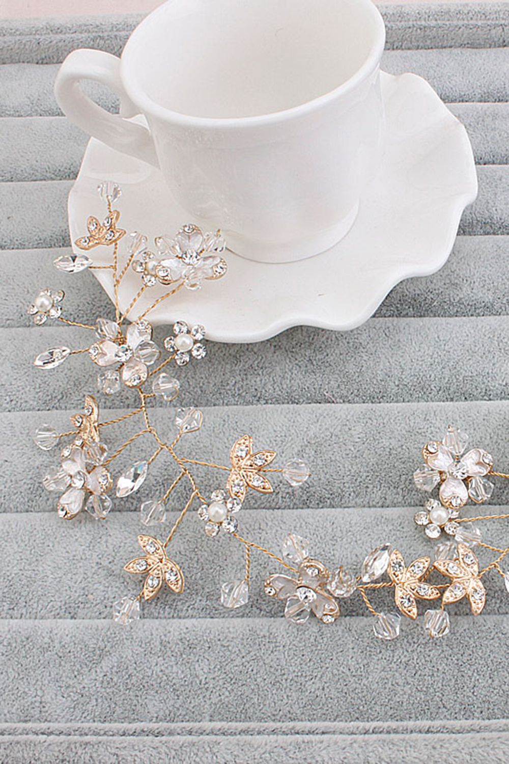 Glamourous Alloy Imitation Pearls Special Occasion&Party Hairpins Headpiece with Crystal Rhinestone