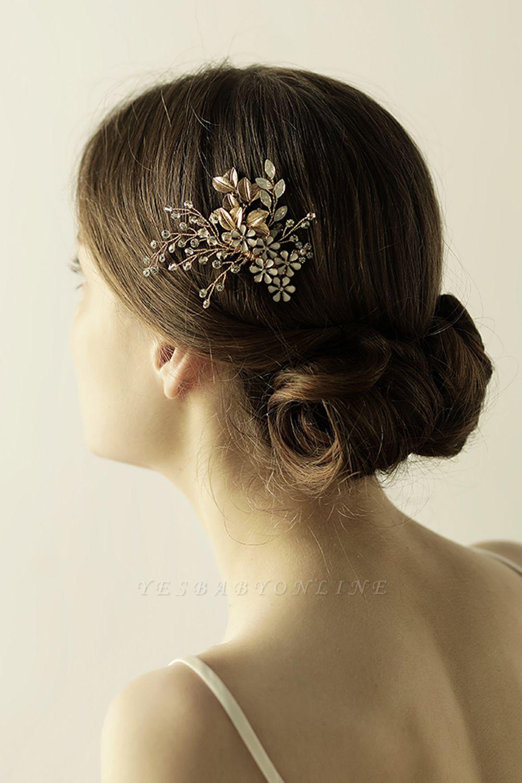 Elegant Alloy&Rhinestone Daily Wear Combs-Barrettes Headpiece with Crystal