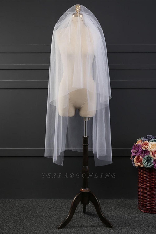 Cheap Tulle Cut Edge Wedding Gloves