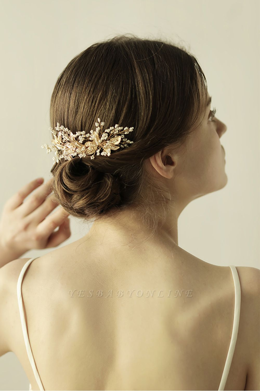 Beautiful Alloy Daily Wear Combs-Barrettes Headpiece with Imitation Pearls