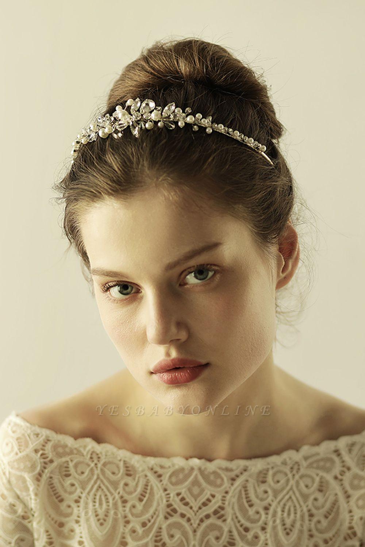 Elegant Alloy Imitation Pearls Special Occasion &Wedding Hairpins Headpiece with Crystal Rhinestone