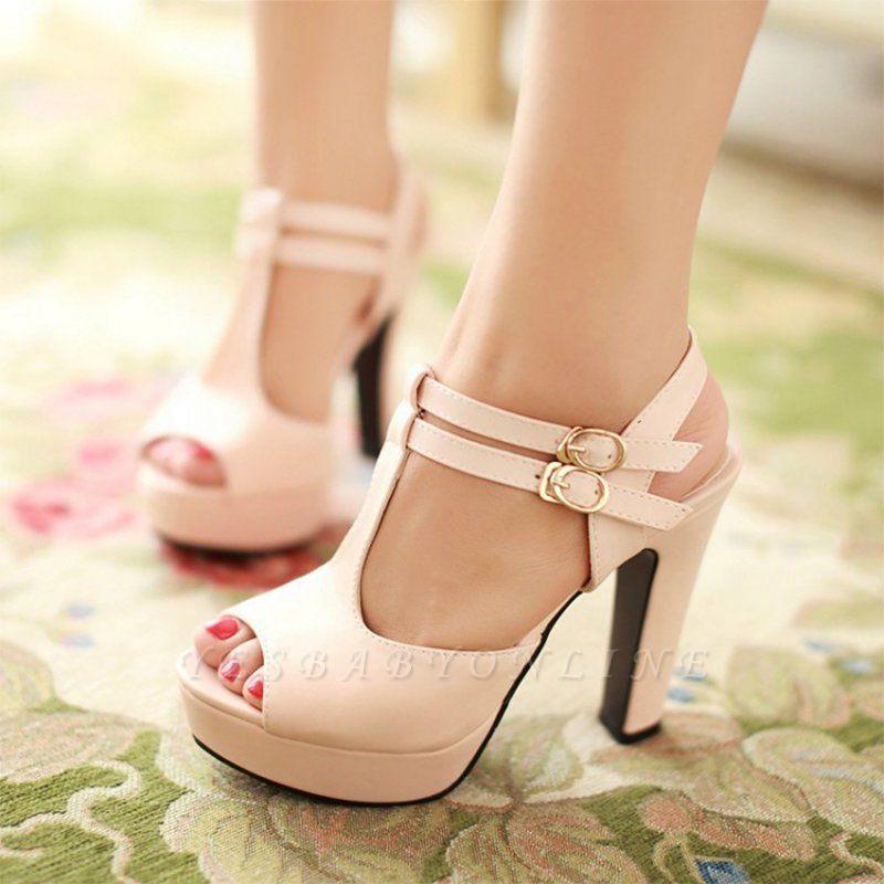 Platform Buckle Date Peep Toe Women Summer Sandals