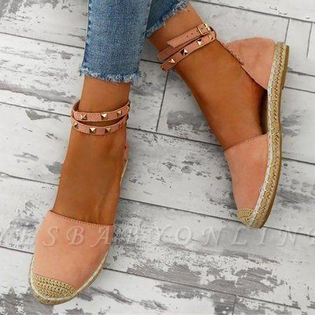 Comfortable Adjustable Buckle Rivet Sandals
