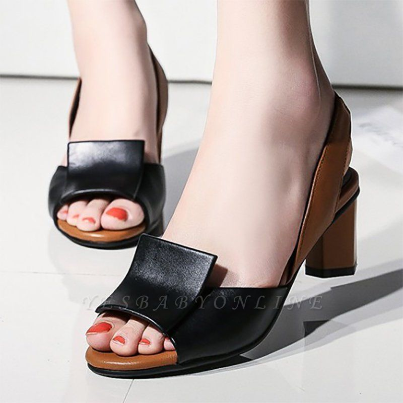 Daily Peep Toe Chunky Sandals