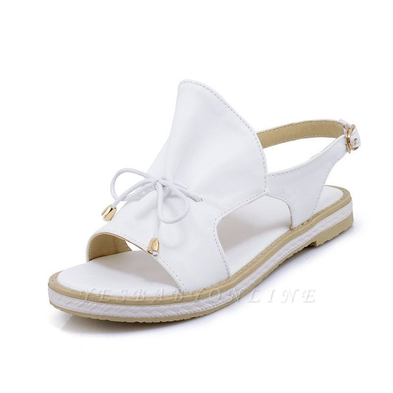 Peep Toe Bowknot Comfortable Summer Hollow-out Casual Sandals