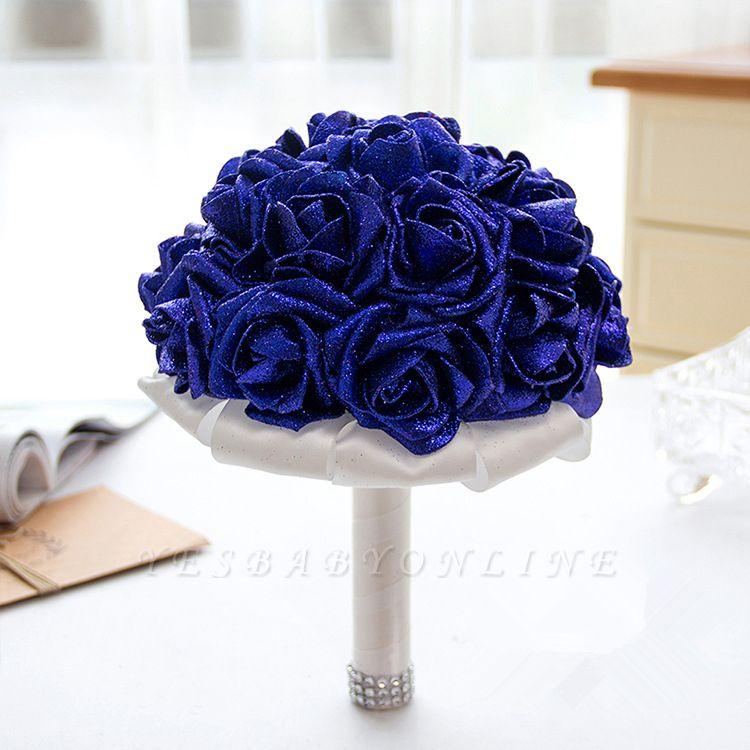Sparkle Multiple Colors Rose Wedding Bouquet