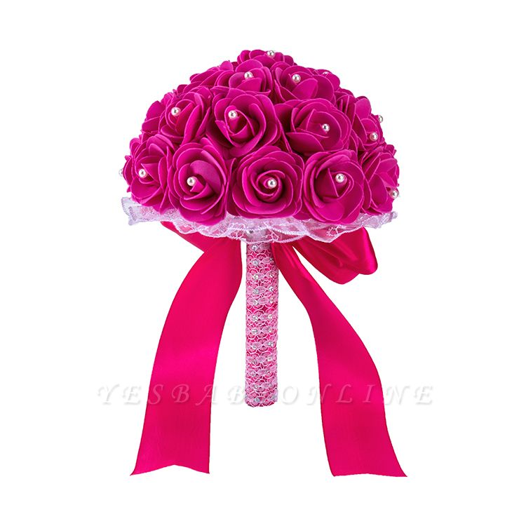 Colorful Rose Beading Bouquet for Wedding