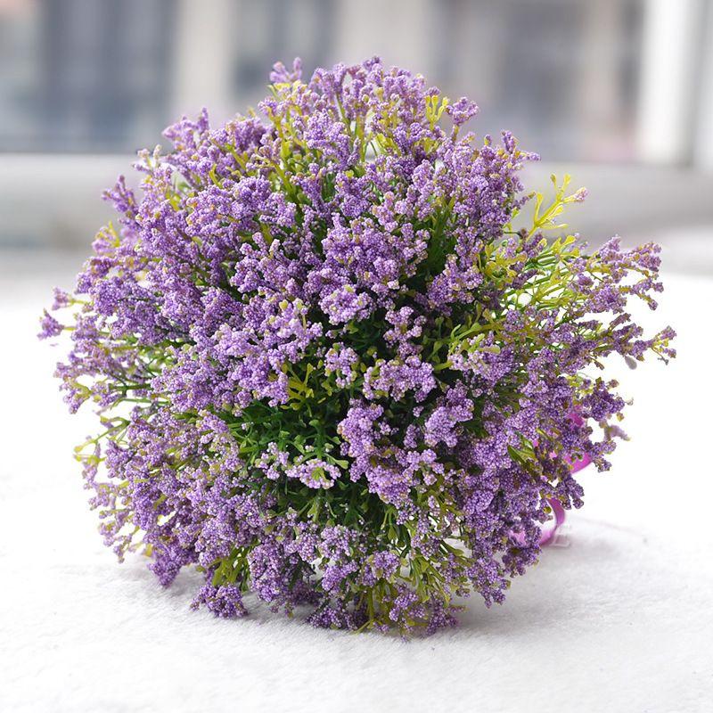 Elegant Real Touch Artificial Lavender Wedding Bouquet