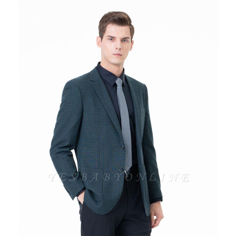 Customize Lattice Two-piece Suit Peak Lapel Single Breasted Career Suits