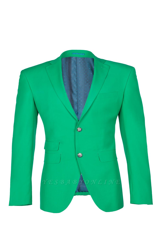 Turquoise Customize Single Breasted Peak Lapel Groomsmen Popular Wedding Suit