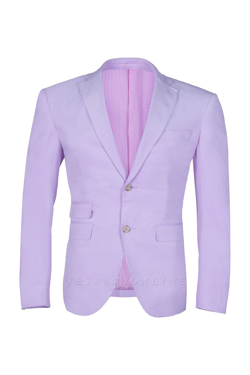 Custom Made Hot Recommend Lavender Peak Lapel Single Breasted Wedding Suit