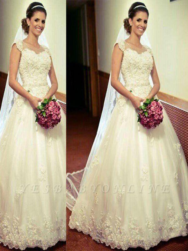 Sleek Sweetheart Floor-Length Sleeveless Tulle Puffy Wedding Dresses