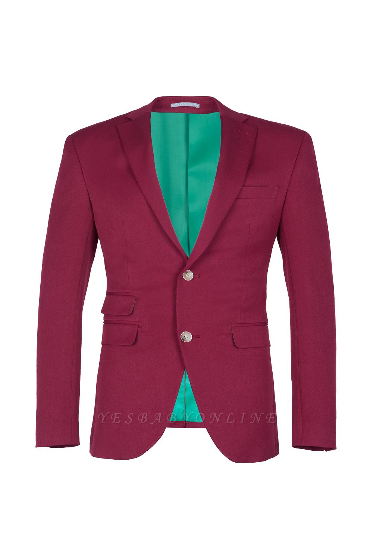Burgundy Stylish Design Peak Lapel Single Breasted Wedding Suit High Quality