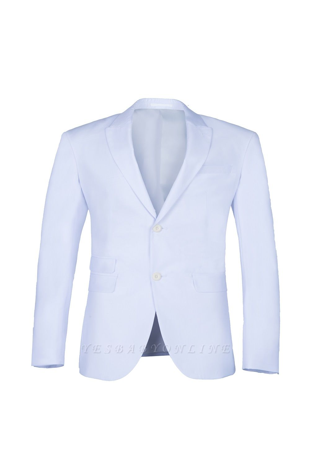 Wedding Prom Suits White Peak Lapel Two Button Single Breasted