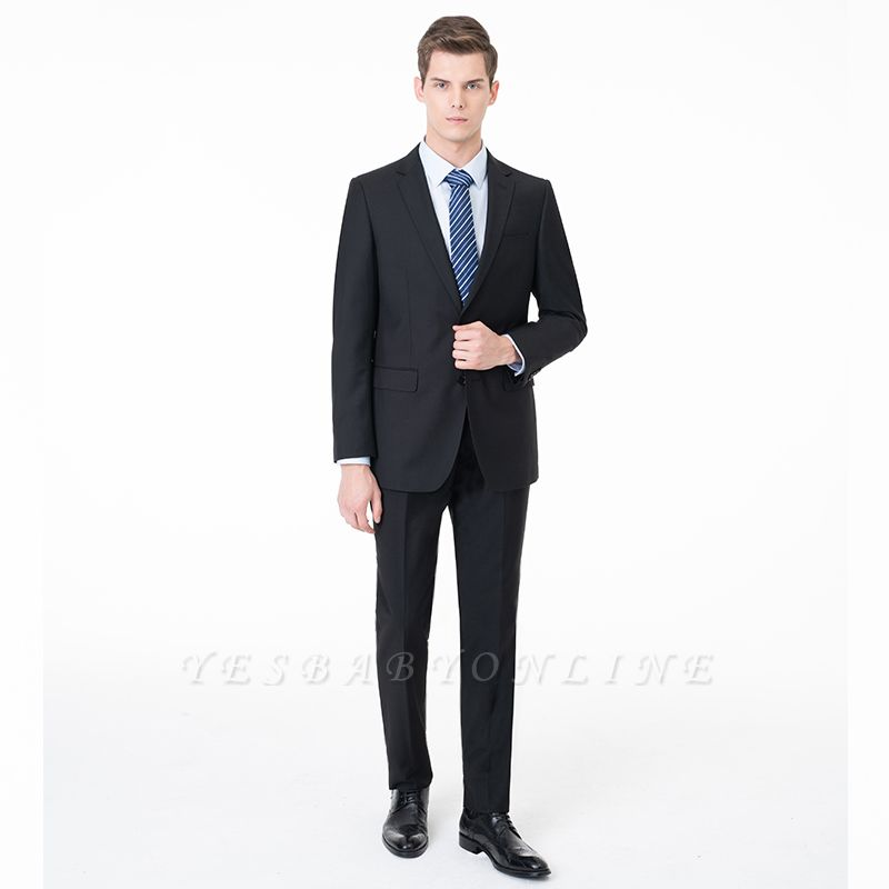 Fashion Single Breasted Two Button Peak Lapel Two Pieces with Pants