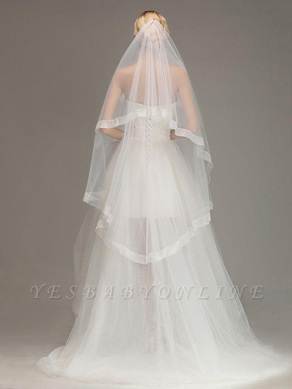 One Layer Cut Edge Wedding Veil Soft Tulle Bridal Veil