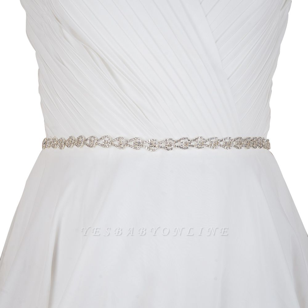 Beautiful Satin Rhinestone Crystals Wedding Sash