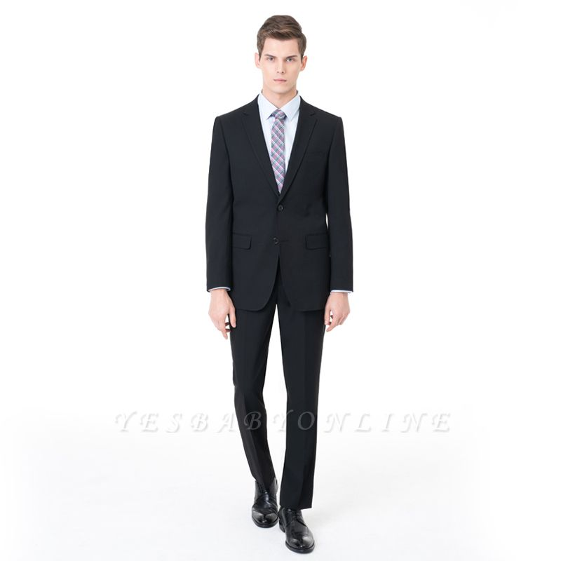 Slim Fit Peak Lapel Two-piece Suit Two Button Casual Suits
