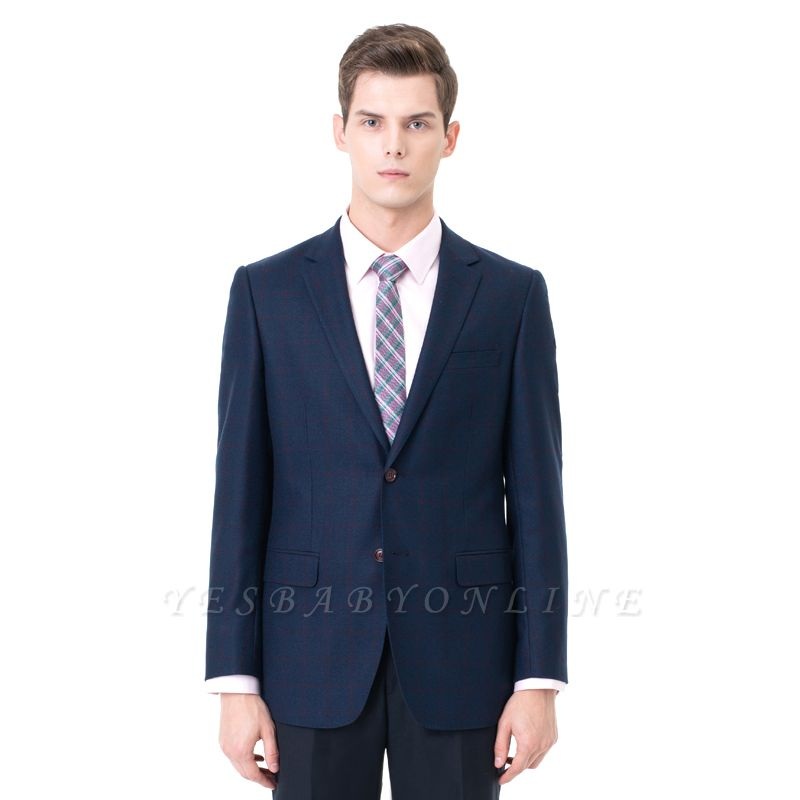 Two-piece Suit Peak Lapel Two Button Single Breasted Slim Fit