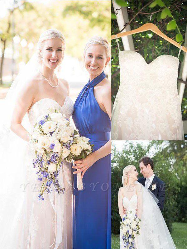 Irresistible Sweep Train Sleeveless Sweetheart Wedding Dresses