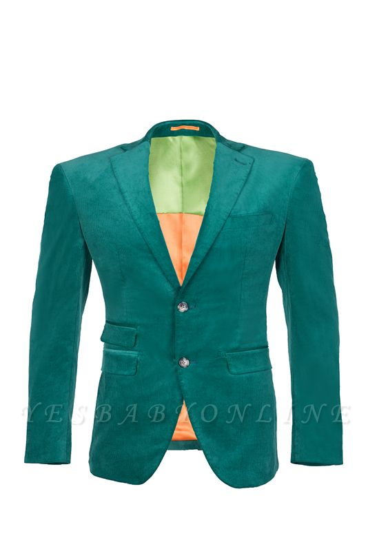 Customize Hot Recommend Single Breasted Peak Lapel Turquoise Groomsmen
