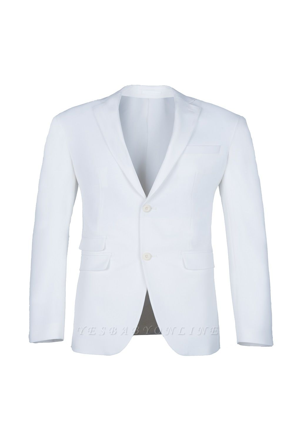 High Quality White Back Vent Two Button Casual Suit Groomsmen Peak Lapel