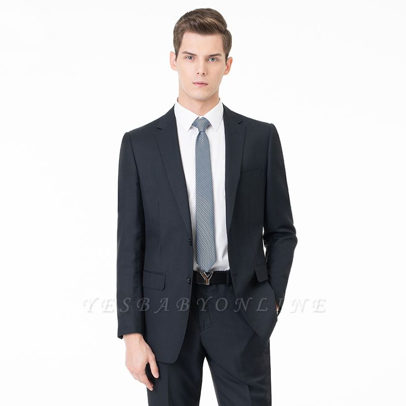 Comfortable Two Button Peak Lapel Two Pieces with Pants Slim Fit