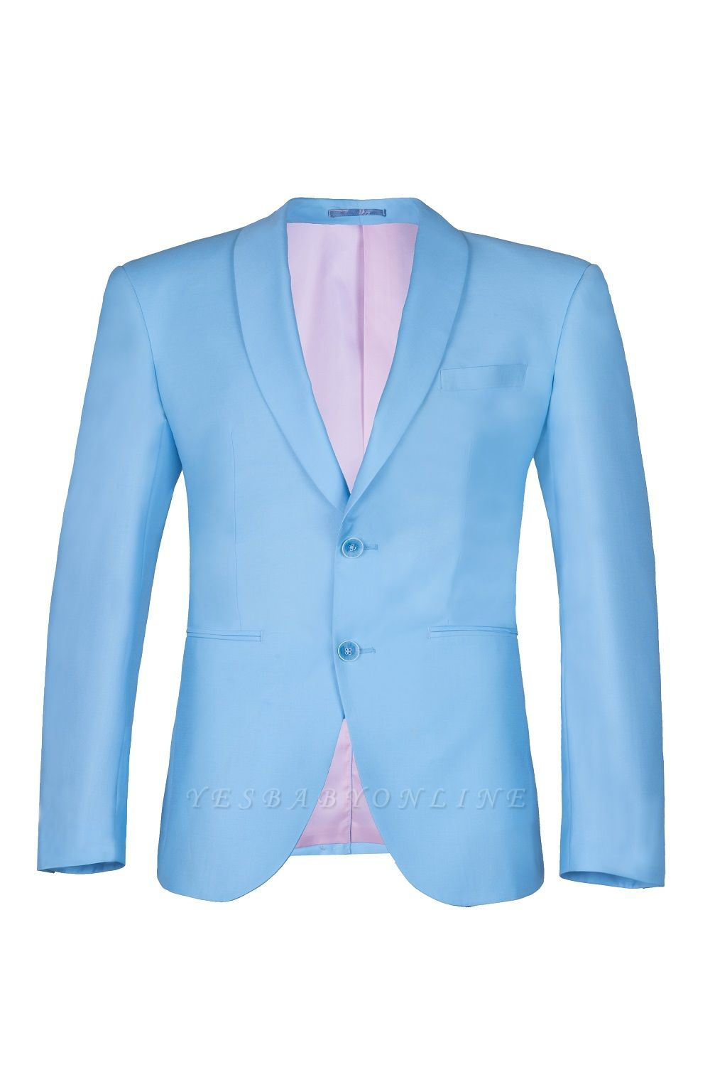 Custom Made Pool Shawl Lapel Two Button Single Breasted Wedding Suits