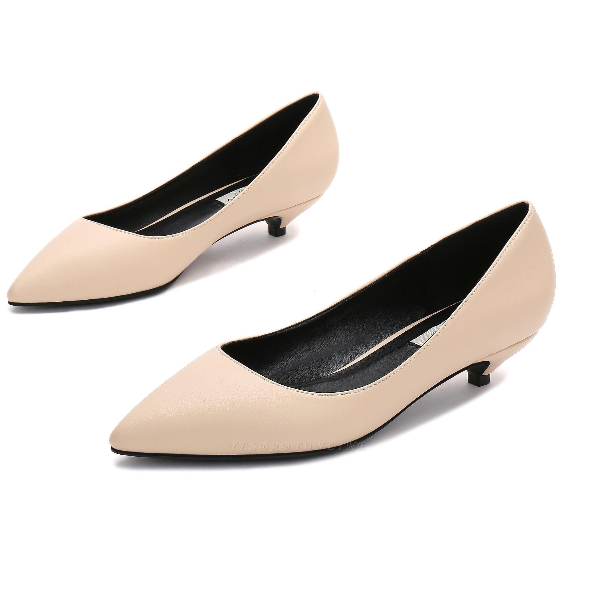 Woman Pointed Toe Kitten Heel Wedding Shoes
