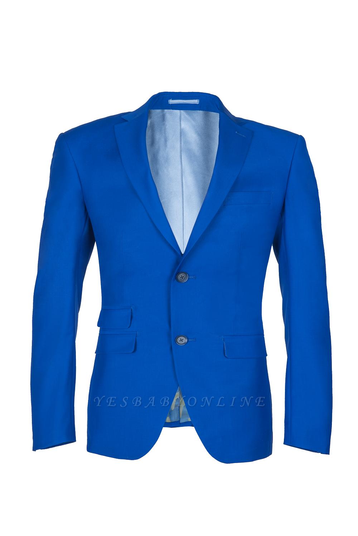 Royal Blue Peak Lapel High Quality Fashion Custom Made Wedding Suit