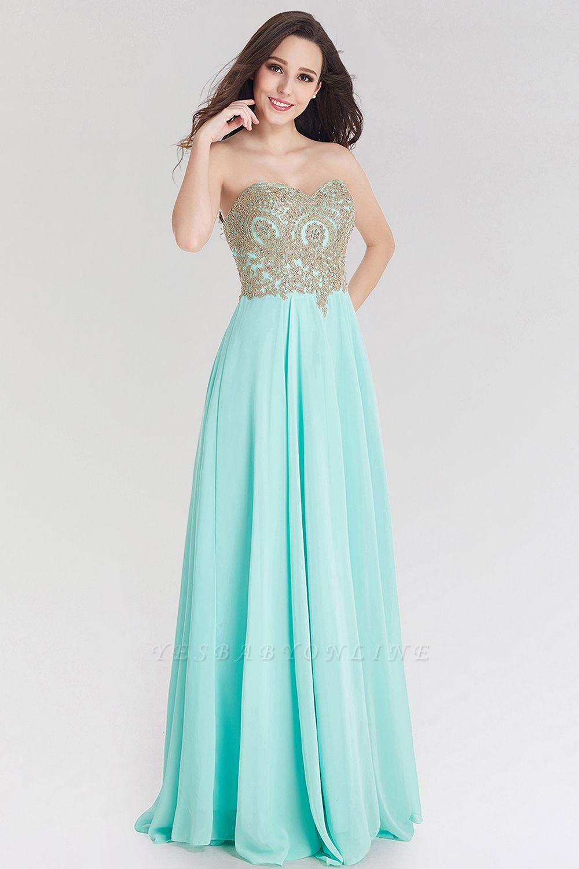 A-line  Strapless Sweetheart Sleeveless Floor-Length Bridesmaid Dress with Beadings
