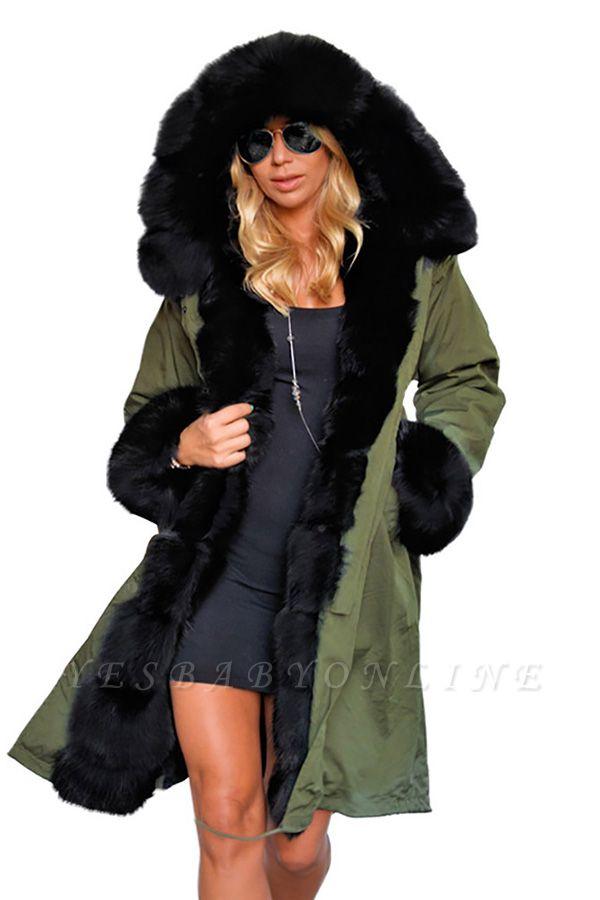 Hunt Parka Coat with Premium Black Fur Trim