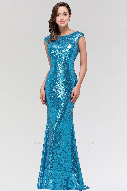 Mermaid Sequined Scoop Sleeveless Floor-Length Bridesmaid Dress
