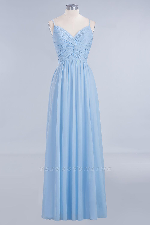 A-Line  V-Neck Spaghetti Straps Floor-Length Bridesmaid Dresses