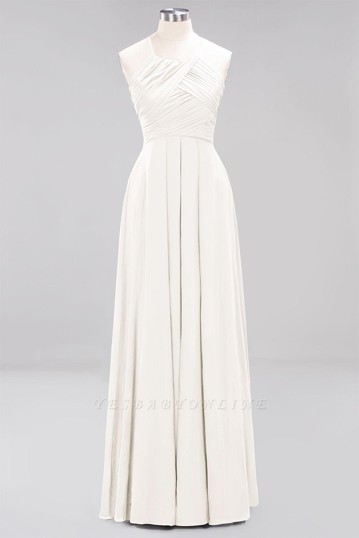 A-Line  Halter Ruffles Floor-Length Bridesmaid Dress