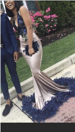 Chic Mermaid V-Neck Straps Long Prom Dress