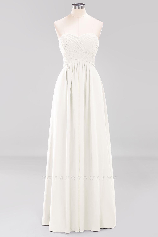 A-line  Sweetheart Strapless Ruffles Floor-length Bridesmaid Dress