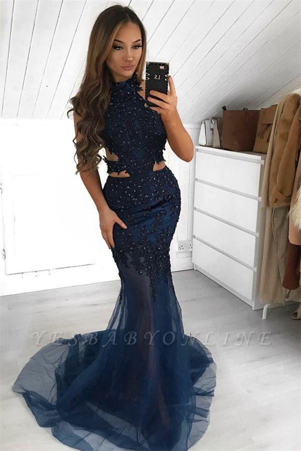 Gorgeous Halter Sleeveless Sheer- Mermaid Prom Dress