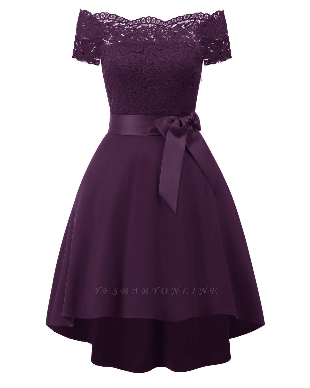 Cocktail Dresses Simple A-Line lace Elegant Summer Lace Dress-FS4035