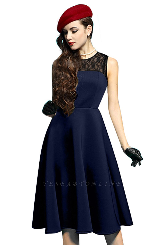 Elegant Jewel Lace Sleeveless Fashion Dresses   Sweetheart Women's Dress